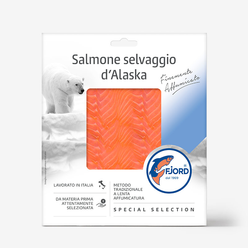Salmone selvaggio d'Alaska